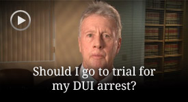 When should a DUI case be brought to a jury trial?